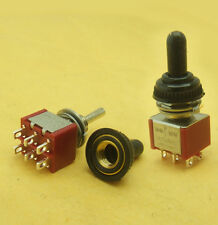 5PCS 6-pin M6 waterproof (On) OFF (On) Momentary Mini Toggle Switch 250V 125V