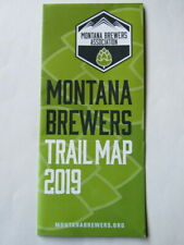 2019 Craft BEER Guide ~ MONTANA Brewers Associaion ~ State Driving Trail Map