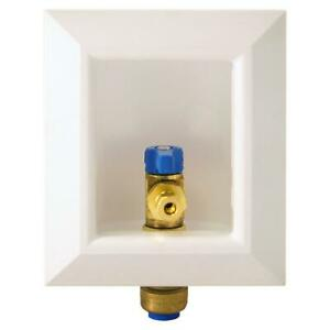 Tectite Ice Maker Outlet Box 1/2-Inch Brass Push-to-Connect