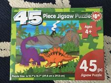 Lot Of 3 Jigsaw Puzzles Farm Animals ,circus Dinosaur