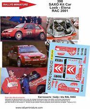 DECALS 1/43 REF 398 SAXO Kit Car Loeb - Elena RAC 2001