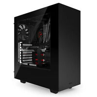 NZXT SOURCE 340 BLACK USB3.0 TOWER PC GAMING COMPUTER CASE SIDE WINDOW & COOLING