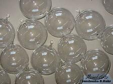 *6er Set Glaskugeln Deko Kugeln mit Öse Ø 8 cm Windows -Color / Baumschmuck