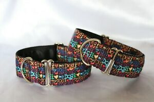 I Love My Dog 38mm- House Collar/Martingale/Plastic Side Release dog collar