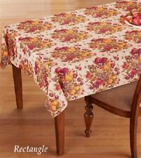 Colorful Thanksgiving Autumn Fruit Harvest Rectangle Tablecloth Dining Decor