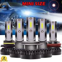 H1 H4 H7 H8=H9=H11 9005 9006 55W Mini Globe Car Bulb LED Headlight Lamp 6000K X2