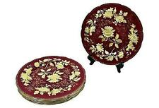 Wedgwood England TONQUIN RUBY DINNER PLATE CHARGERS Set of 12 - FREE SHIP!