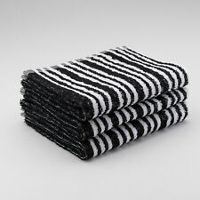 12 x Black & White Tinting Hairdressing Towels  Barber Salon Beauty 45x80cm