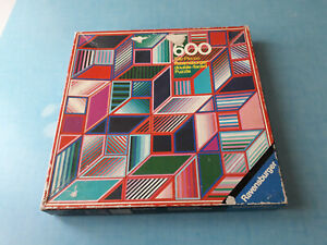 Ravensburger Double-Faced-Puzzle 600 pièces-Graphic II-complet 1973