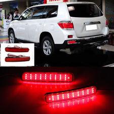 2x LED Rear Bumper Reflector Brake Driving Light For Toyota Highlander 2012-2014