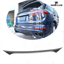 Carbon Fiber Rear Middle Spoiler Boot Trunk Wing Fit for Porsche Cayenne 2015-17