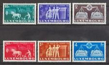 LUXEMBOURG 1951 Cpl XF MNH** Set, CEPT Forerunner Stamps, Agreement, Human Right