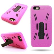 Kickstand Case for Apple iPhone 6 Plus Tough Hot Pink / Black Hard / Soft Cover