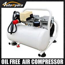 110v Oil Free Piston Air Compressor Used In Laboratory Food 08mpa 2 Gal Tank