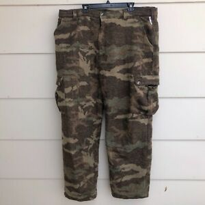 BROWNING ODORSMART Men's Sz-2XL Wool Blend Lined BROWN CAMO HUNTING PANTS HEAVY