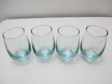 """Libbey Glass Juice Tumblers Set of 4 Light Blue in Color 3 3/4"""" Tall 6 oz"""