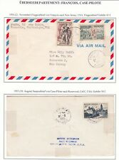 Martinique 1954 Two Covers Francois & Case-Pilote Airmail To Usa