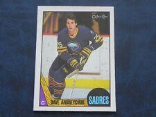 1987-88 87/88 O-Pee-Chee OPC #3 Dave Andreychuk Buffalo Sabres EXMT NEW