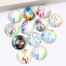 50 PCS Mixed dream catcher photo round dome glass cabochons 12mm diy handma F4M3