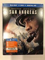 San Andreas (Blu-ray + Dvd + Digital HD) With Dwayne Johnson