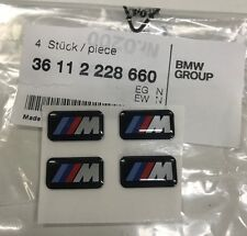 Genuine BMW M Sport Alloy Wheel Badge Pack of 4 Part Number 36 11 2 228 660