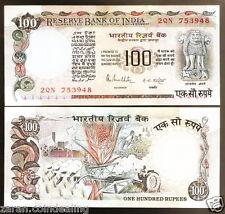 100 Rupees R.N.Malhotra Cobalt Blue (Plain Inset)(G-21 / G-37)@ Uncirculated Con