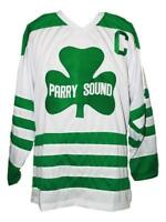 Custom Name # Parry Sound Retro Hockey Jersey New White Any Size