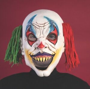 Halloween Cosplay Ragdoll Clown Open Mouth Adult Creepy Circus Mask