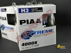 Piaa H3 Xtreme White Plus Halogen Replacement Bulbs Twin Pack 15223