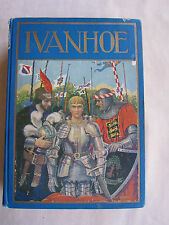 Old Book Ivanhoe by Sir Walter Scott Windermere Series 1930's GC