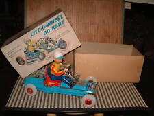 NOMURA, TIN, LITE-O-WHEEL BATTERY POWERED GO KART 100% OPERATIONAL WITH BOX!!