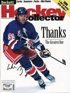 Rangers Wayne Gretzky Authentic Signed 1999 Beckett Magazine PSA/DNA #U14326