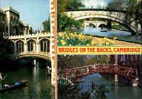 BRÜCKEN Motiv-AK Brücke Bridges on the Backs CAMBRIDGE Great Britain Postcard