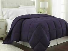 1Piece Purple Comforter 100%Cotton 800TC US Size Microfiber Fill Heavy Weight