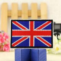 2 pcs UK Flag Embroidered Iron / Sew On  Patch United Kingdom Badge Transfer FG