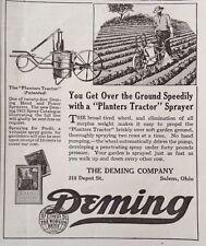 "1921 AD(XB18)~THE DEMING CO. SALEM. OHIO. ""PLANTERS TRACTOR"" SPRAYER"
