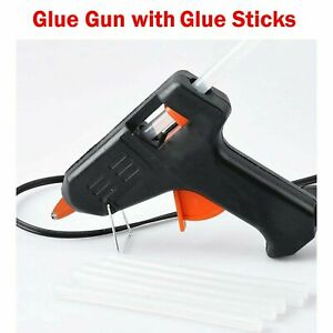 Glue Gun Hot Melt Electric Trigger DIY Adhesive Hobby Craft 2 Free Glue Sticks