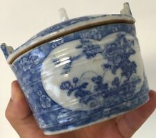 Sucrier en Porcelaine Chinoise Japonaise Japon Chine Ancien Boîte Bleu