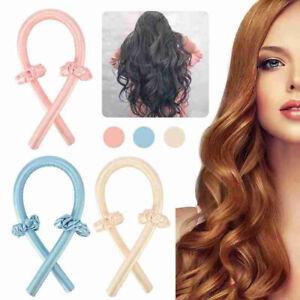 Heatless Curling Rod Headband No Heat  Curls Silk Ribbon Hair Roller Hair Tool