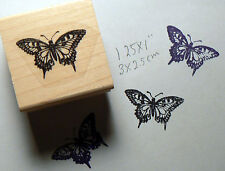 "Butterfly rubber stamp small 1x1"" WM P15"