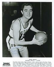 Bobby Wanzer signed Basketball Hall of Fame photo