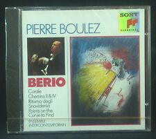 CD Pierre Boulez-conducts Berio, Sony, NUOVO-IMBALLAGGIO ORIGINALE