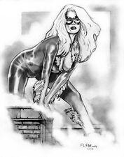 SEXY BLACK CAT PRINT- Tom FLEMing