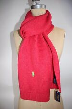 NWT RALPH LAUREN 74x9.5 Women's Fuchsia Neon Green PONY Wool/Alpaca Blend Scarf