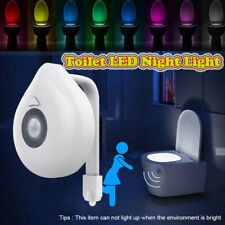Toilet Night Light 8 Color Changing LED Motion Sensor Activated Bathroom Toilet