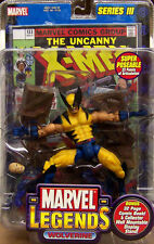 "MARVEL LEGENDS_Yellow WOLVERINE 6 "" action figure_Series # 3_TOY BIZ_New and MIP"