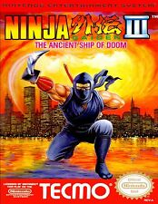 "Nintendo Nes ( 2.5"" X 3.5"" FRIDGE MAGNET )   NINJA GAIDEN 3 III  BOX COVER"