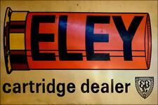 Eley Cartridge Dealer Galvanized Steel Enamel Painted  Sporting Metal Sign
