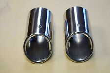 AUDI A1 A3 2008-2014 STAINLESS STEEL REAR EXHAUST TAIL MUFFLER PIPE SET x2