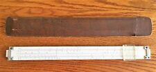 "Vintage Rare Acu Design 12"" Plastic Slide Rule Made In Usa W/ Sheath Pat Pending"